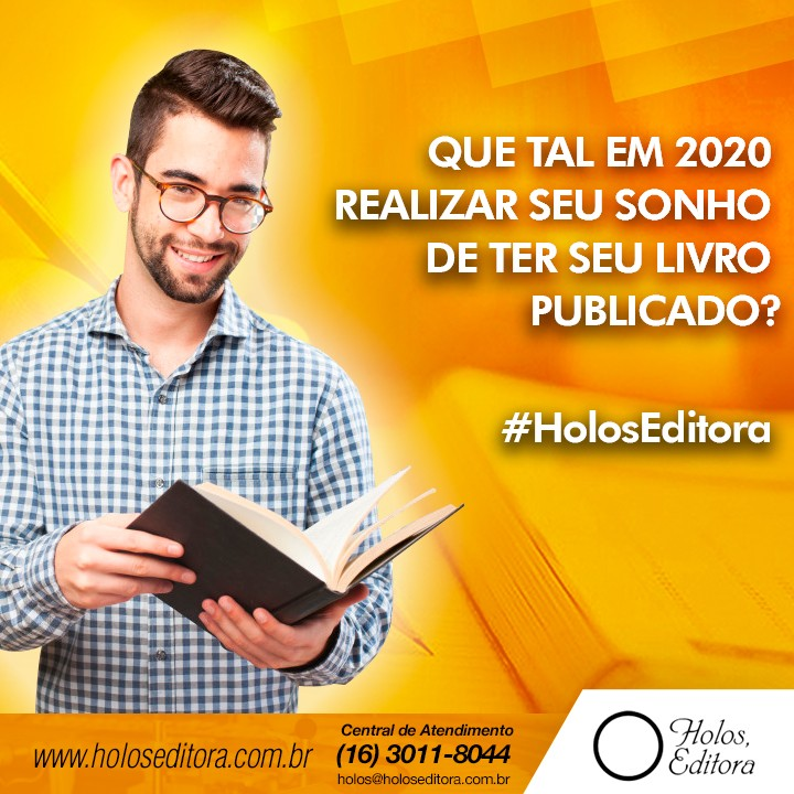 Que tal em 2020 realizar seu sonho de ter seu livro publicado?